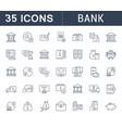 set line icons bank vector image