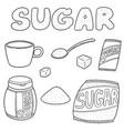 set of sugar vector image