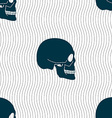 Skull sign Seamless pattern with geometric texture vector image vector image