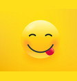 smiling emoticon with tong 3d comic style
