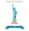 statue of liberty world landmark american symbol vector image vector image