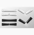 sugar sticks for coffee in white and black packs vector image vector image