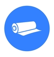 Textile roll icon of for web vector image vector image
