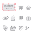 Thin line icons set Shopping vector image vector image