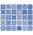 tiles patterns set vector image vector image