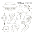 Travel to China Set of icons vector image vector image