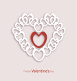 white heart vector image vector image
