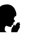 Young girl praying vector image