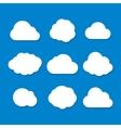 Cartoon Style Cloud Set vector image