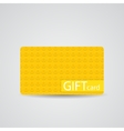 Abstract Beautiful Block Gift Card Design vector image