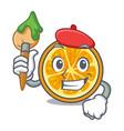 artist orange character cartoon style vector image