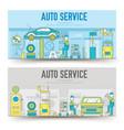 auto service landscape concept thin line icons vector image vector image