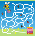 bee labyrinth vector image vector image
