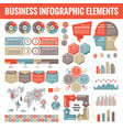 big set business infographic elements vector image