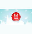 big winter sale red button icon or banner vector image vector image