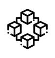blockchain artificial intelligence icon vector image vector image