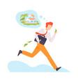 character running away