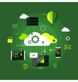 Cloud computing presentation infographic concept vector image