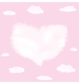 Cloud in shape of heart vector image vector image