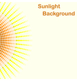 Colorful sunlight background round sunbeams vector image
