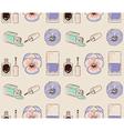 Cosmetics seamless pattern hand drawn Nail polish vector image