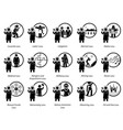 different type laws icons depict field vector image vector image