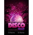 Disco poster background vector image vector image