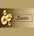 easter brown composition with eggs on pendants of vector image vector image