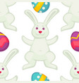 eastre seamless cartoon style pattern vector image vector image