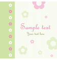 Floral Pattern Greeting Card vector image vector image