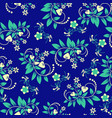 floral seamless pattern with swirl shapes vector image