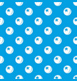 glossy star ball pattern seamless blue vector image vector image