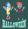 halloween and zombies images vector image