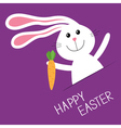 Happy Easter Bunny rabbit hare carrot in the vector image vector image