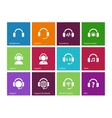 Headphones icons on color background vector image vector image