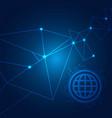 internet browser polygonal technology blue backgro vector image