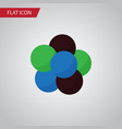 isolated nuclear flat icon proton element vector image