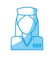 medical nurse icon vector image vector image