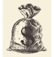 Money Bag Vintage Engraved vector image