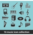 music icon collection vector image vector image