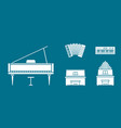 music instruments icons set 04 vector image