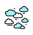 natural clouds color icon vector image vector image
