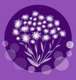 nice flower bundle in circle composition on trendy vector image