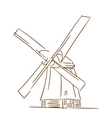 Old windmill vector image