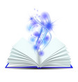 open book with magic light vector image vector image