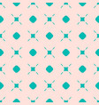 pink and turquoise seamless pattern abstract vector image vector image