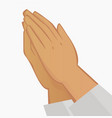 praying hands on white background vector image