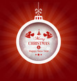 red background with merry christmas typography vector image vector image