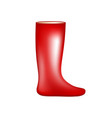 red rubber boot vector image
