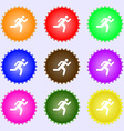 running man icon sign A set of nine different vector image vector image